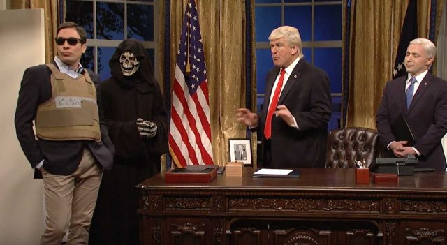 Alec Baldwin & Jimmy Fallon Spoof Trump & Kushner On SNL