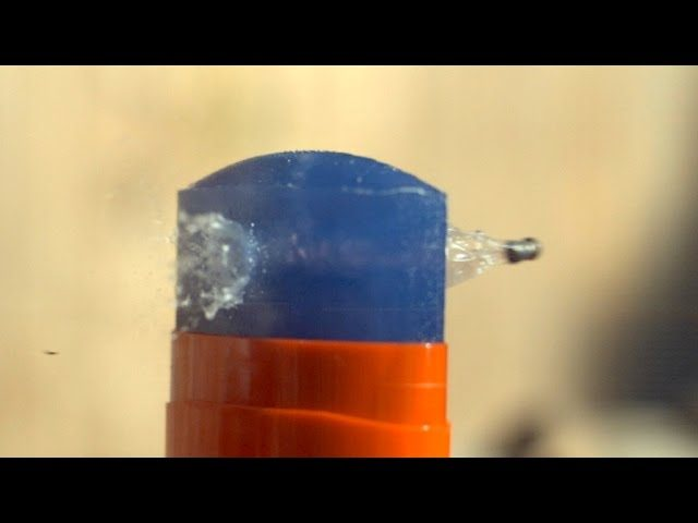 Bullet Fired Through Deodorant In Extreme Slow Motio
